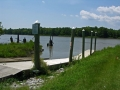 ~view of the Pole Yard Boat Landing launch lanes and dock~