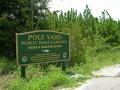 ~Pole Yard Public Boat Landing sign, just off Highway 17 North~