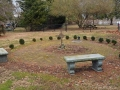 Circular memorial garden - at the rear of the church