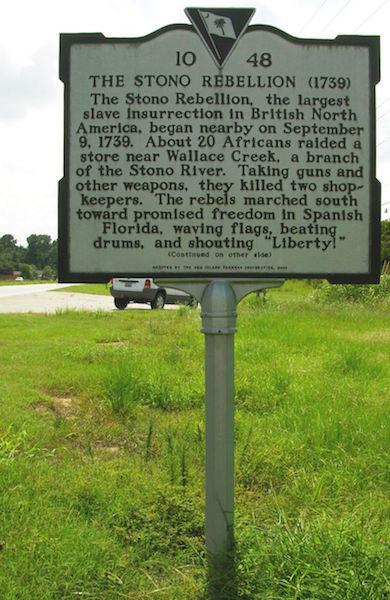 Stono Rebellion Historical Marker Highway 17