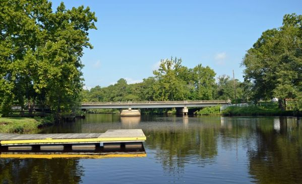 ~Highway 17 bridge over the Trent River in Pollocksville, North Carolina~