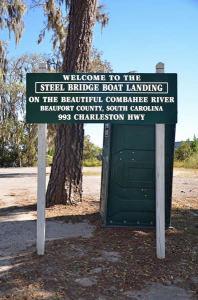 ~Steel Bridge Boat Landing Sign~