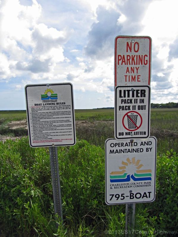 ~Charleston County Park & Recreation Commission Boat Landing Rules~