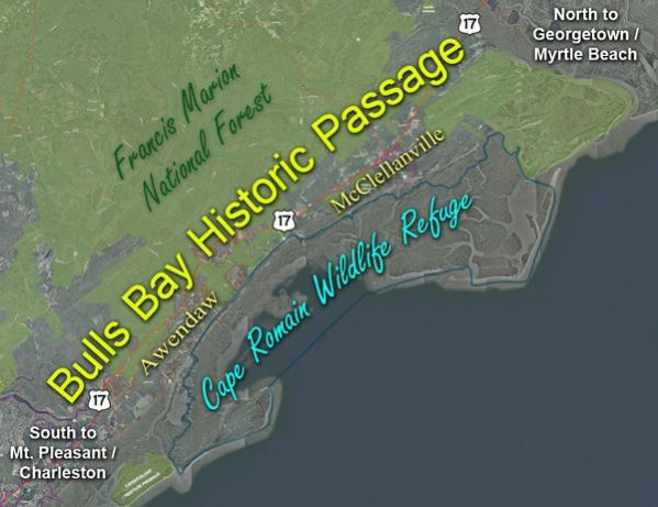 ~Map of the Bulls Bay Historic Passage~   ~~~~~
