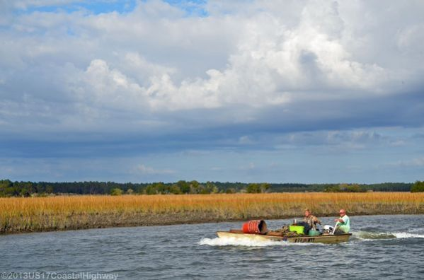 ~Oystermen coming into the dock at McClellanville, South Carolina~   ~~~~~